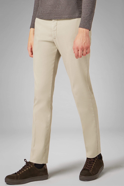 Pantalón Boggi Slim Fit De Tencel Y Algodón Elástico