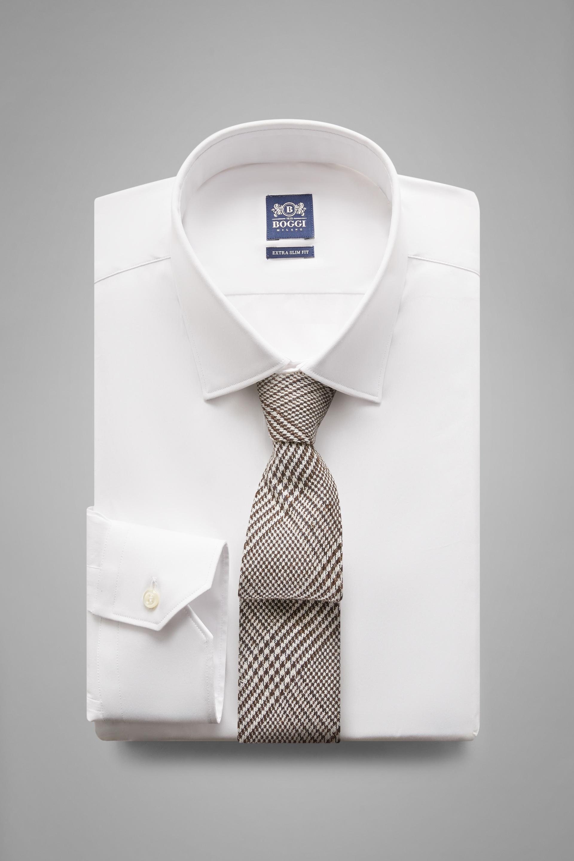 Camisa Boggi Extraslimfit Blanca Con Cuello Tokio