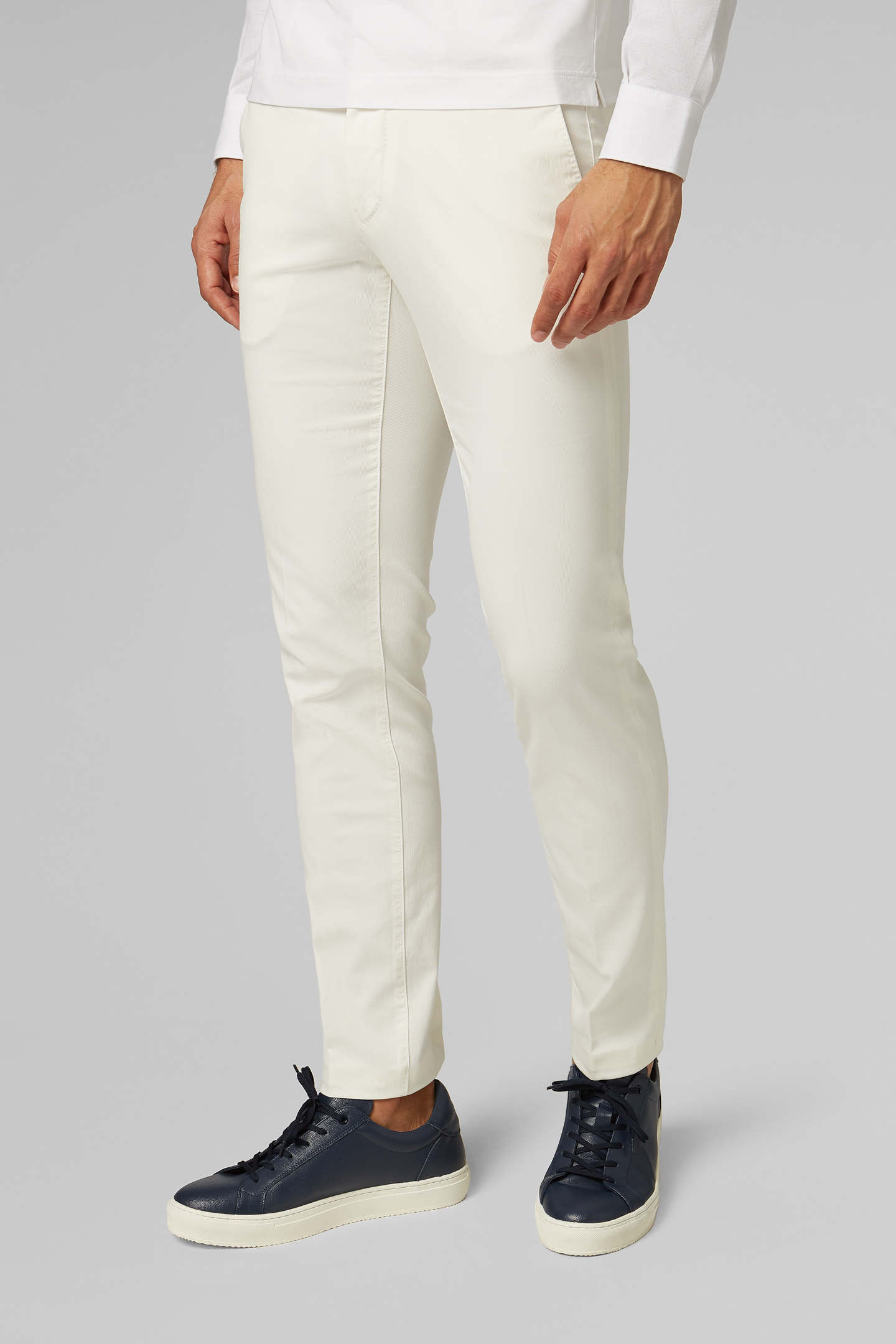 Pantalón Boggi Slim Fit De Algodón Grosgrain Elástico