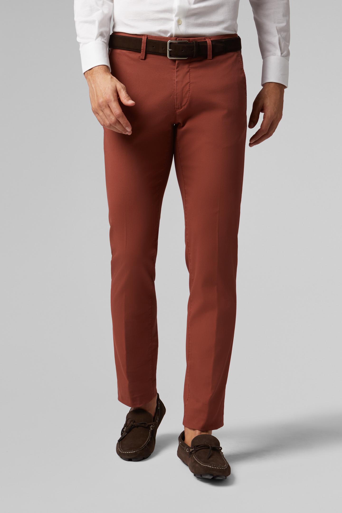 Pantalón Slim Fit De Algodón Grosgrain Elástico