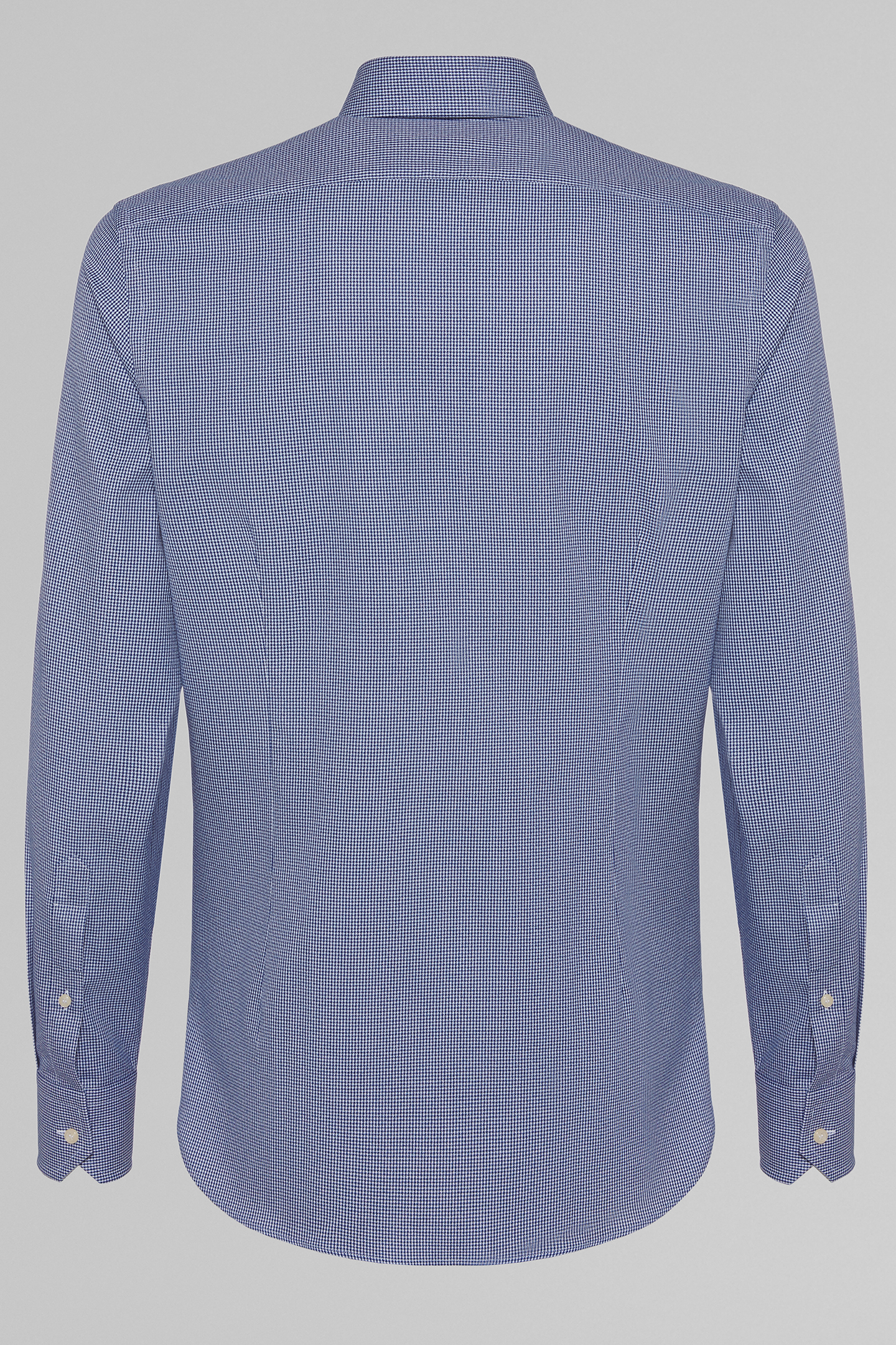 Camisa Boggi Slim Fit Azul Marino Con Cuello Windsor