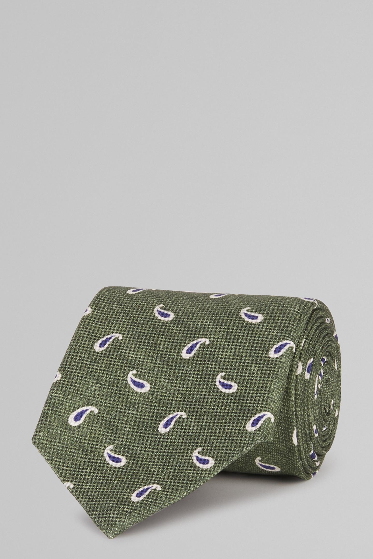 Corbata Boggi De Seda Con Estampado Paisley