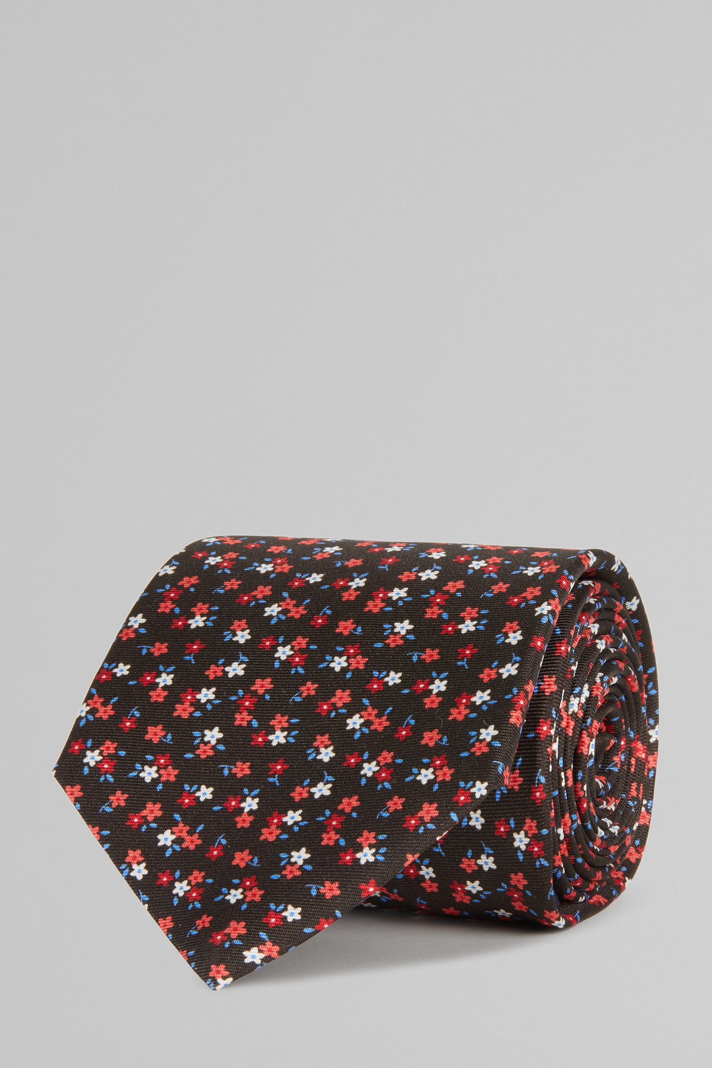 Corbata De Seda Con Estampado Floral
