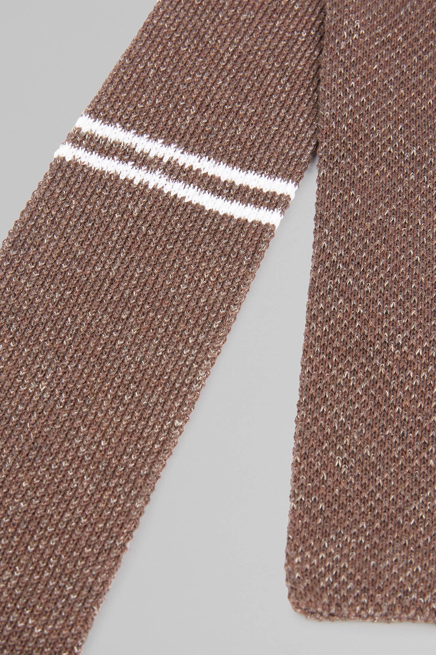 Corbata De Seda Y Algodón A Rayas