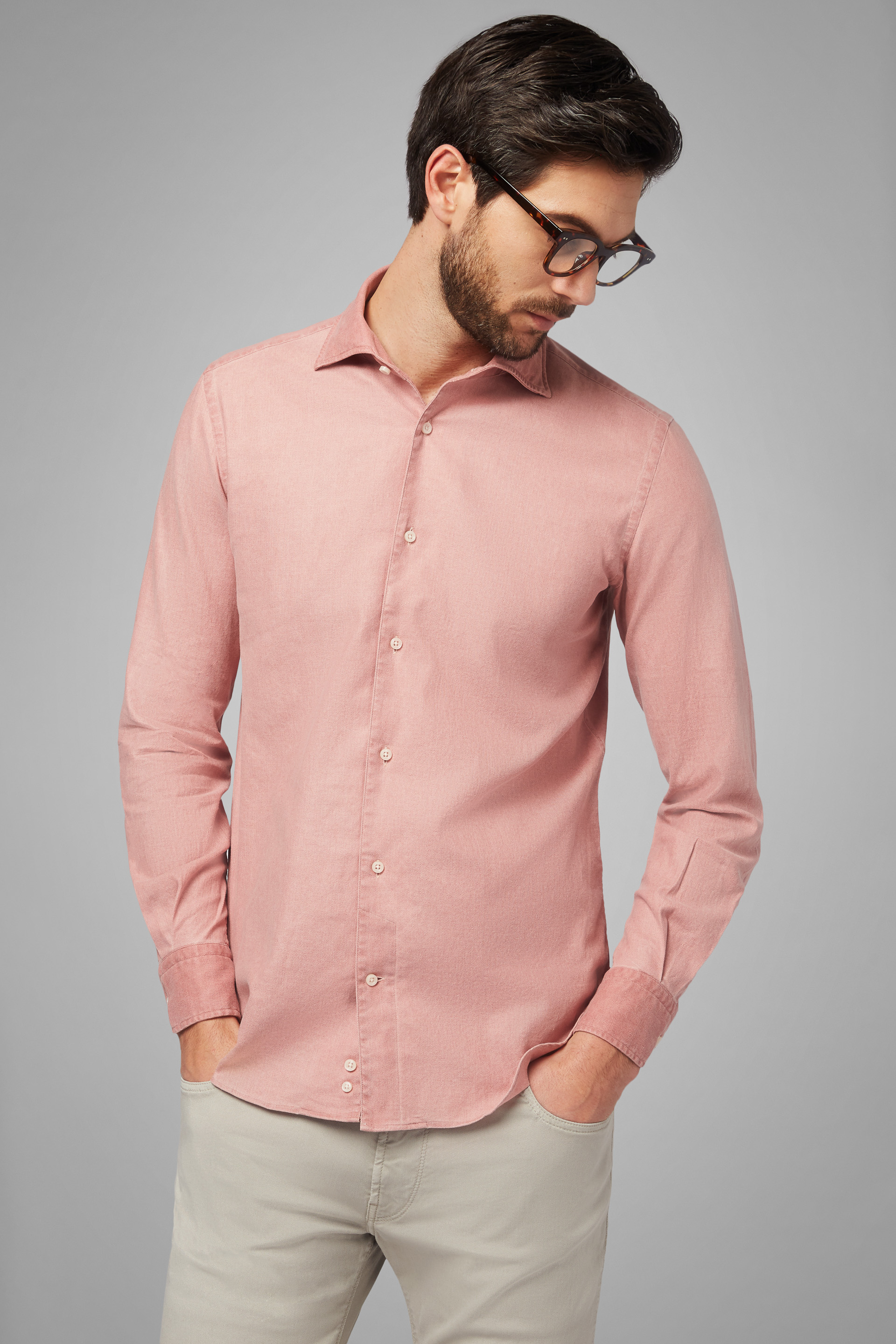 Camisa Regular Fit Con Cuello Bowling