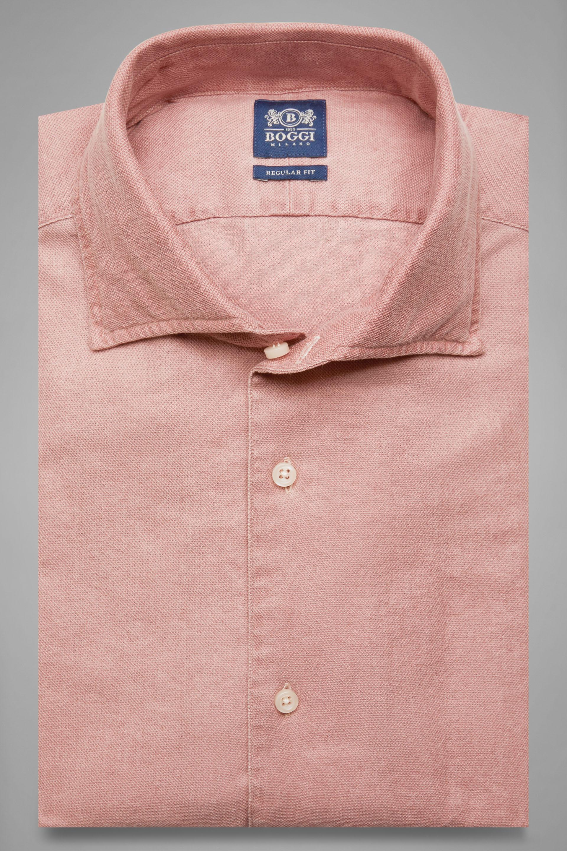 Camisa Boggi Regular Fit Con Cuello Bowling