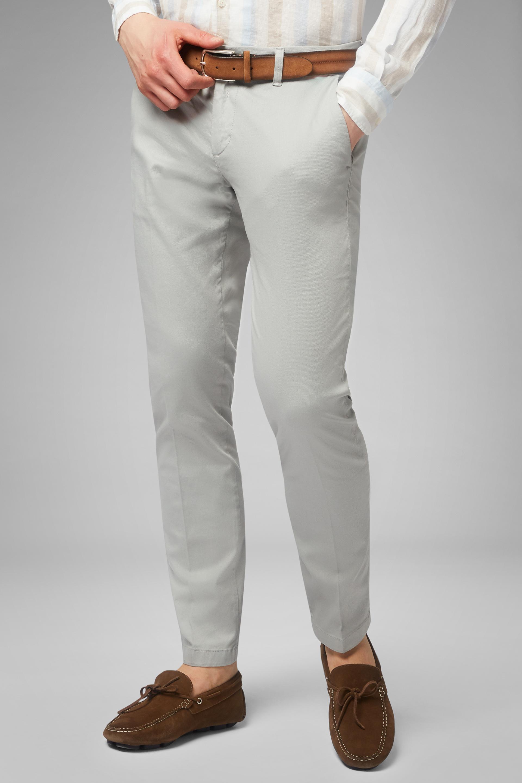 Pantalón De Algodón Y Tencel Elástico Con Efecto Lavado