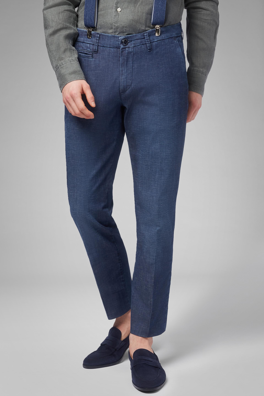 Pantalón Denim Slim Fit Ligero Con Lavado Medio