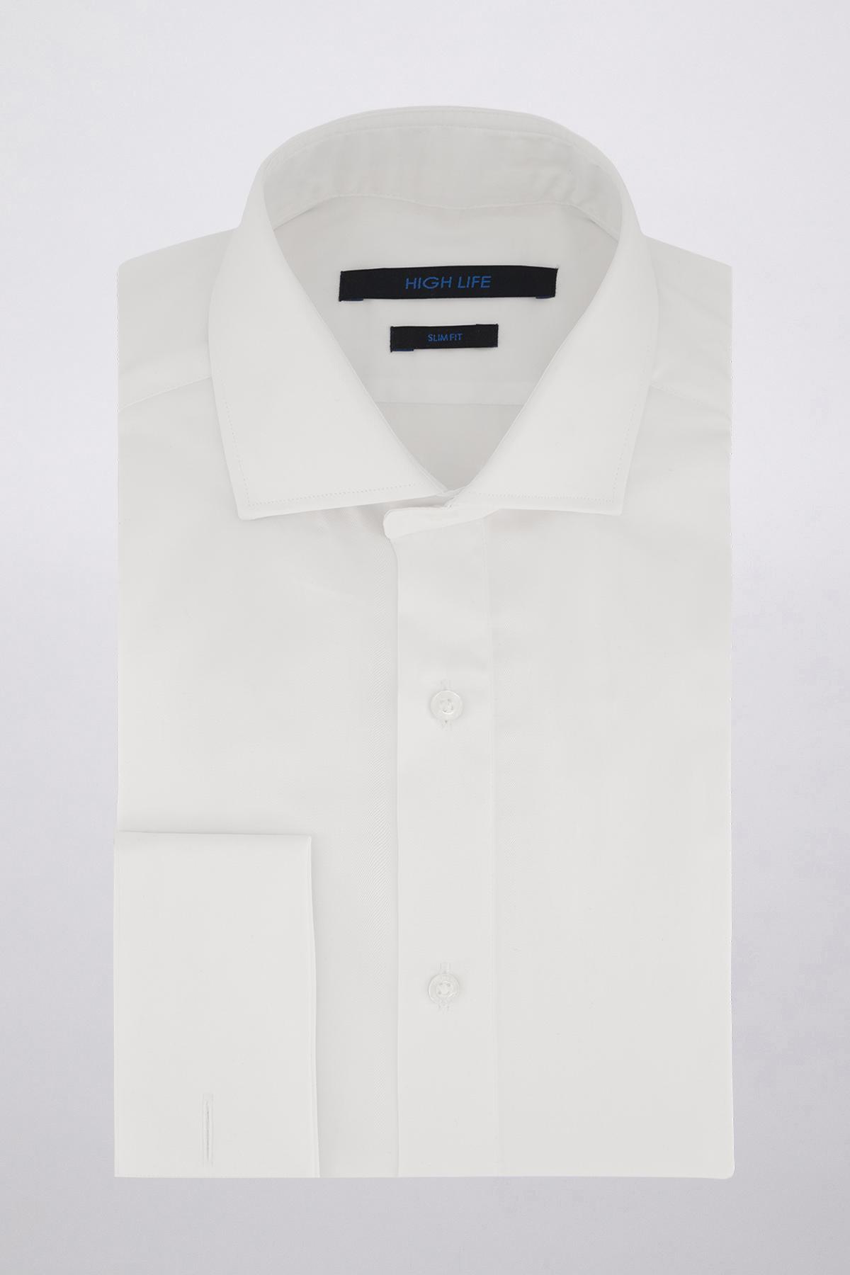 Camisa Vestir marca HIGH LIFE color Blanco