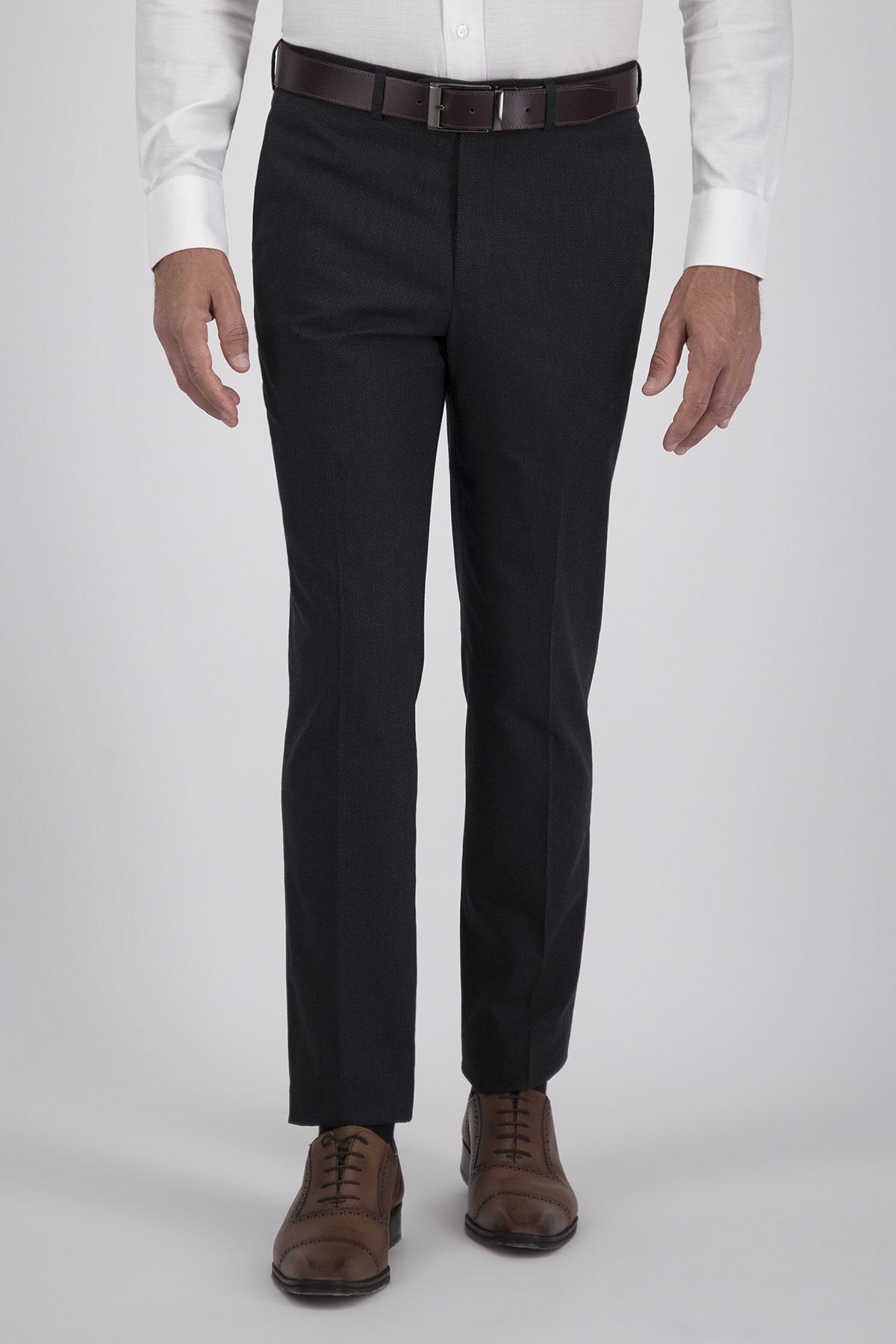 Pantalón Vestir High Life, Tejido tipo 100% Lana Negro, Corte Slim.