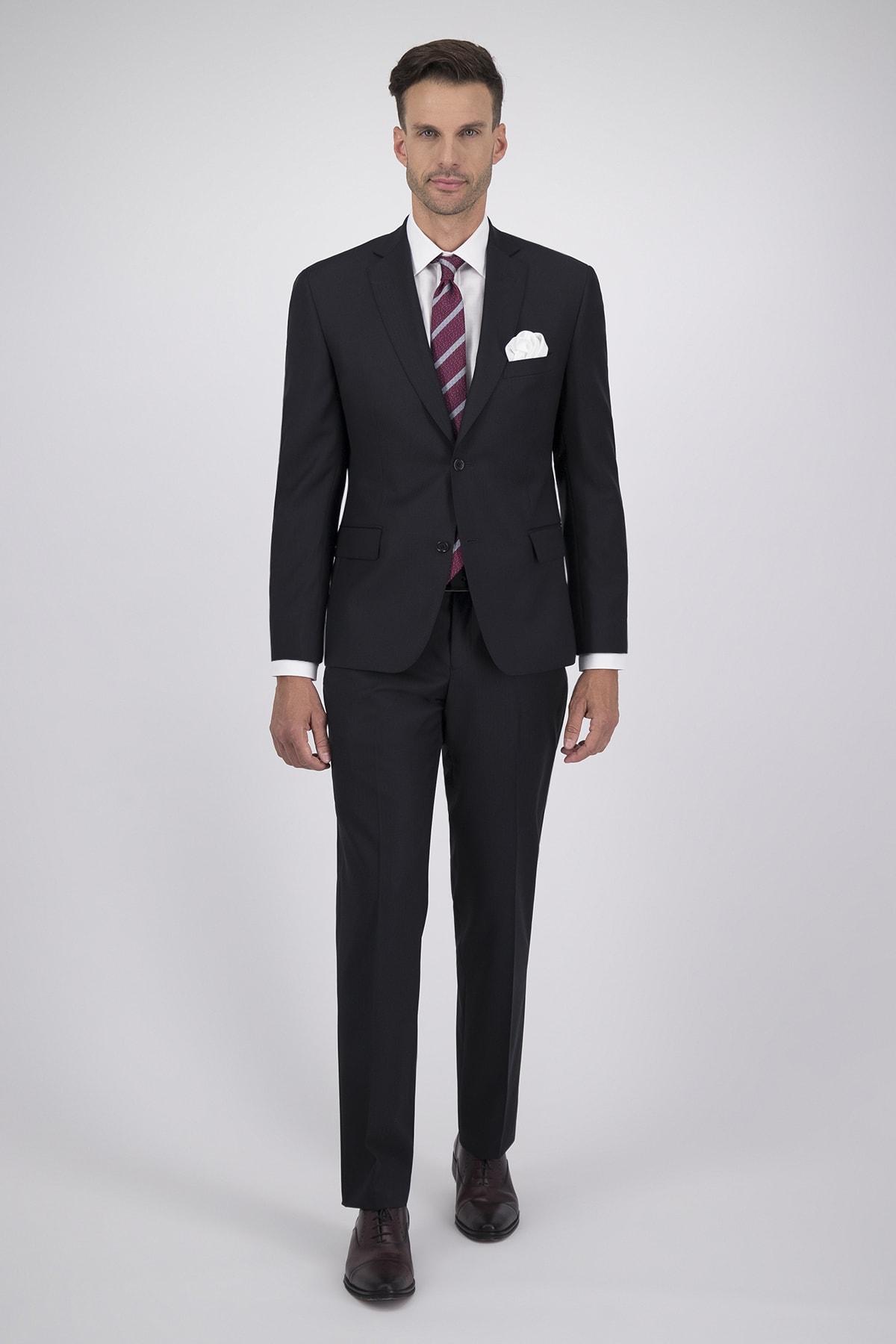 Traje corte Regular tejido Cloth Ermenegildo Zegna negro