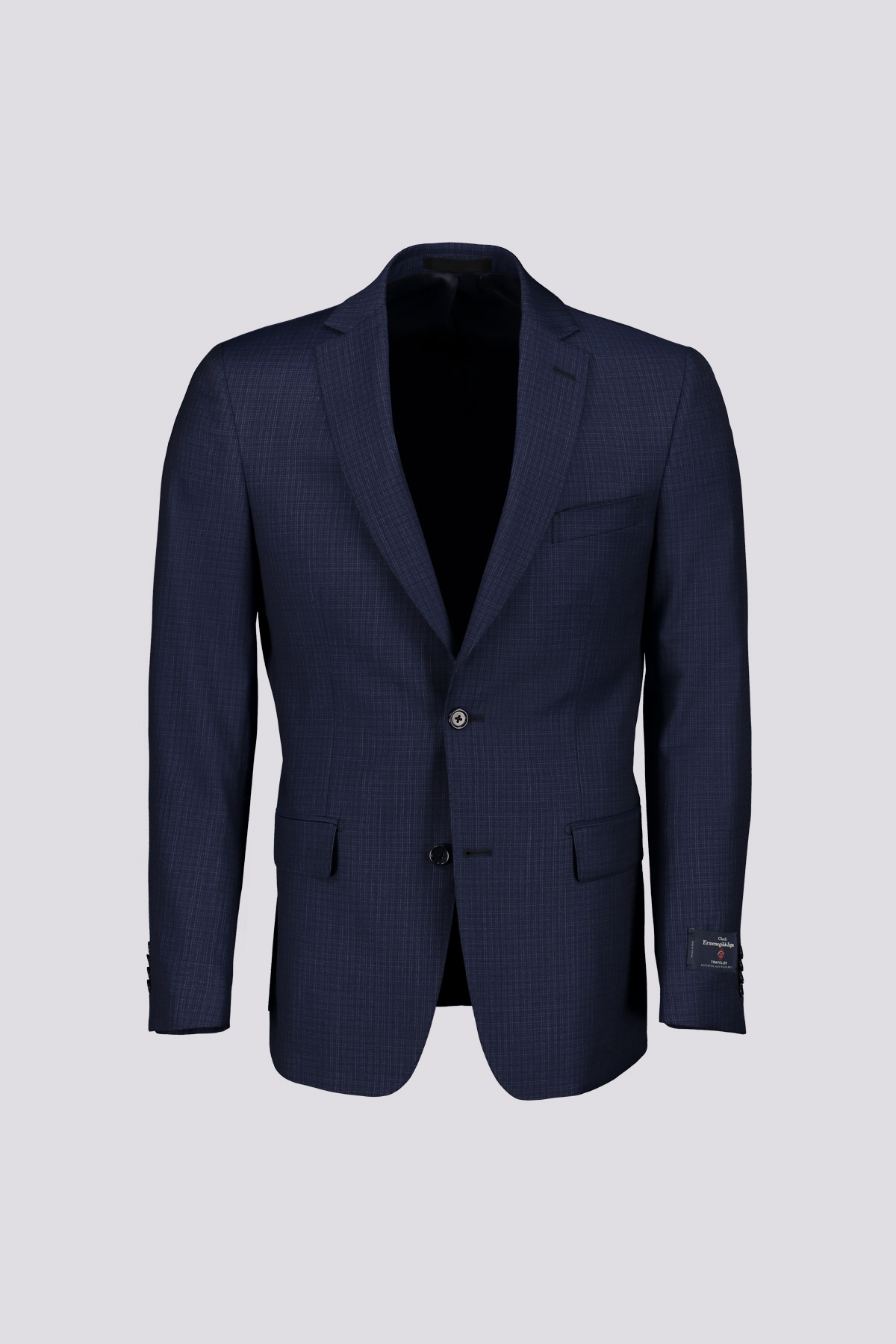 TRAJE MARCA CLOTH ERMENEGILDO ZEGNA SEMICANVAS COLOR AZUL COBALTO
