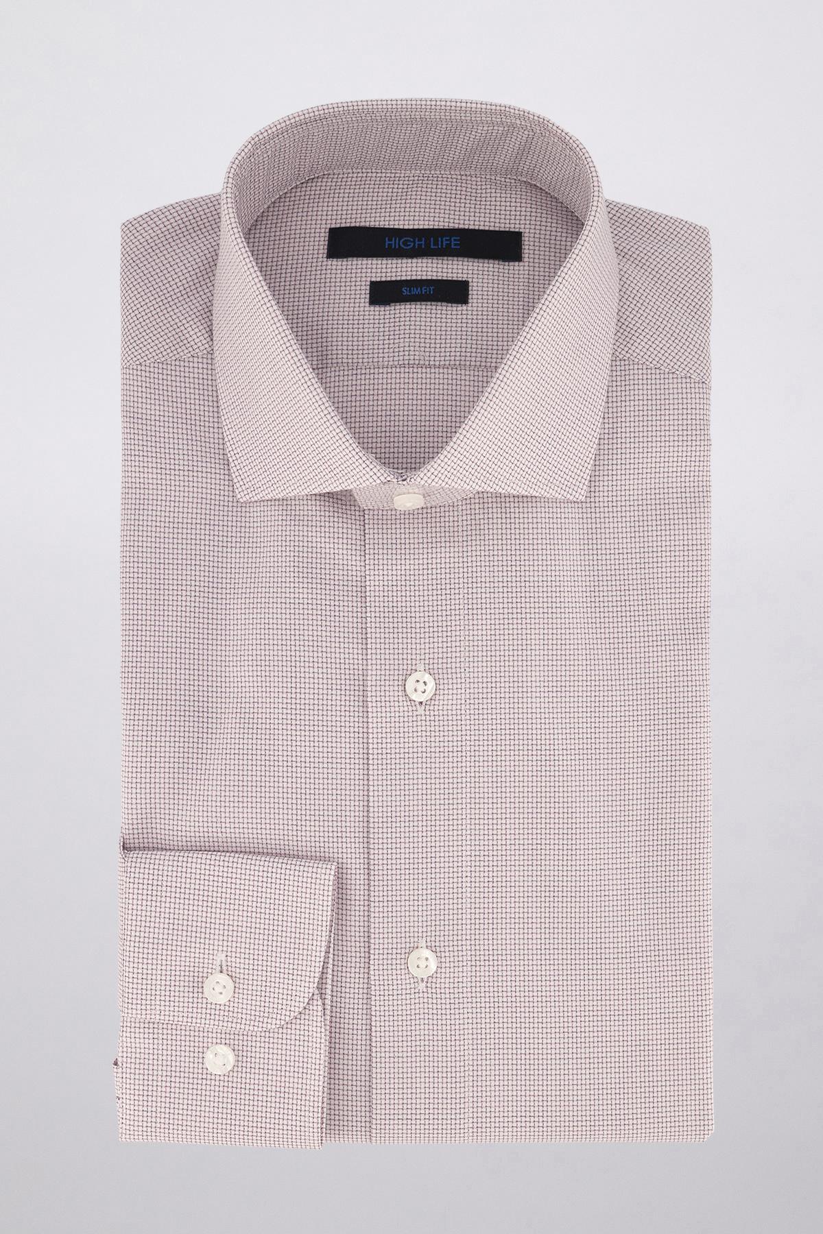 Camisa Vestir marca HIGH LIFE color Rosa