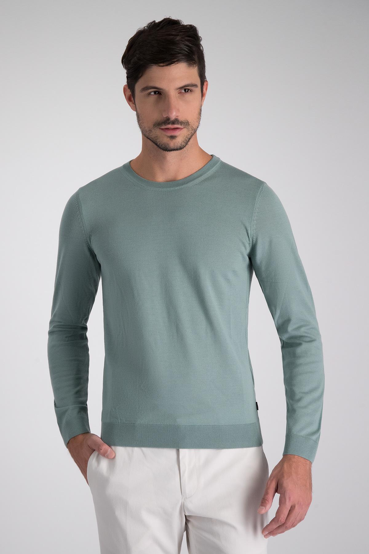 Jersey BOSS de cuello redondo en lana virgen