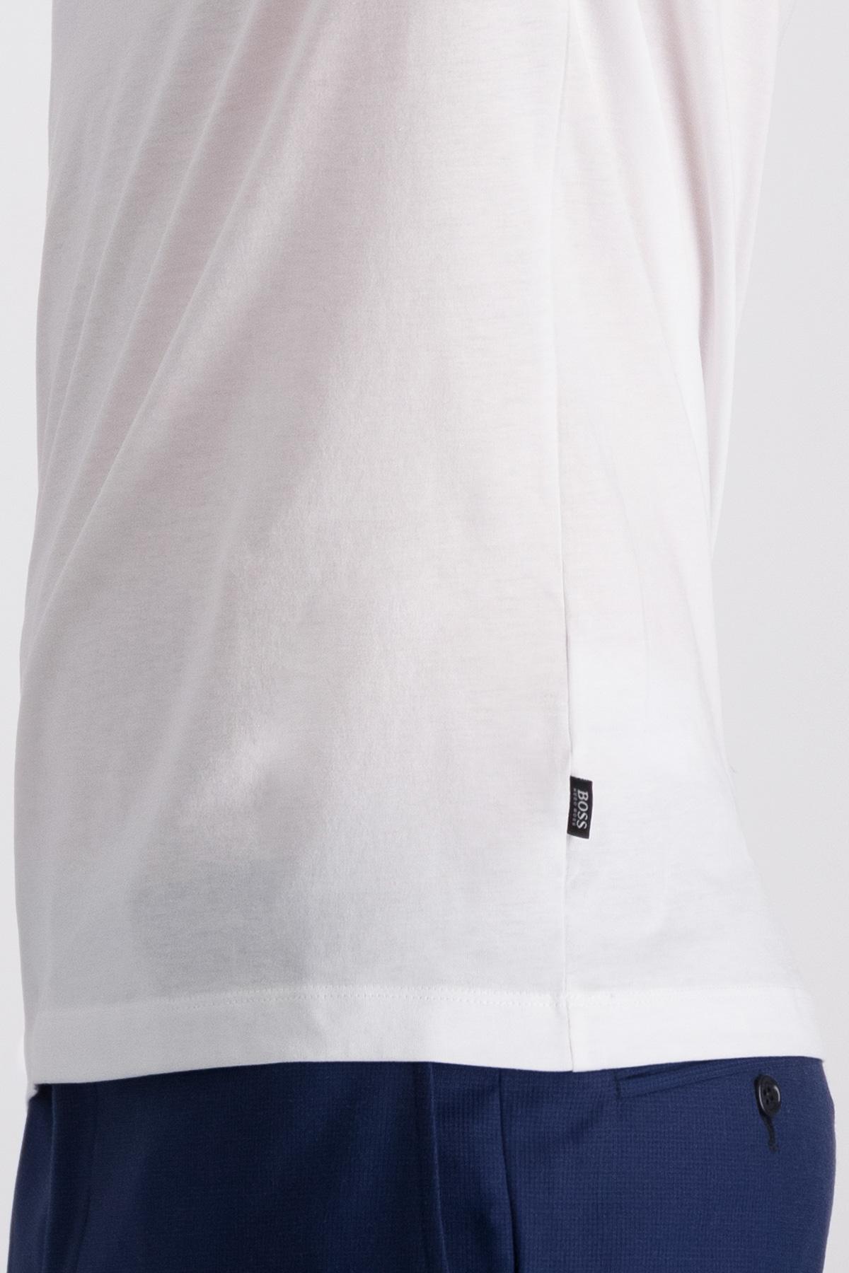Playera BOSS  de punto de algodón con logo estampado