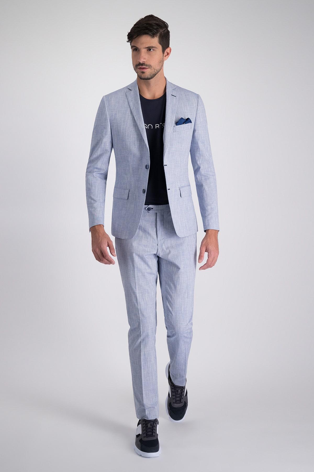 Traje marca HIGH LIFE azul claro con tejido italiano.