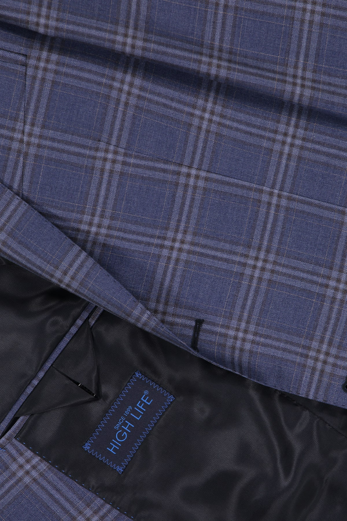 Saco Sport High Life, Azul Obscuro, Diseño Cuadro Ventana, Calidad Super 120´s 100% Lana.