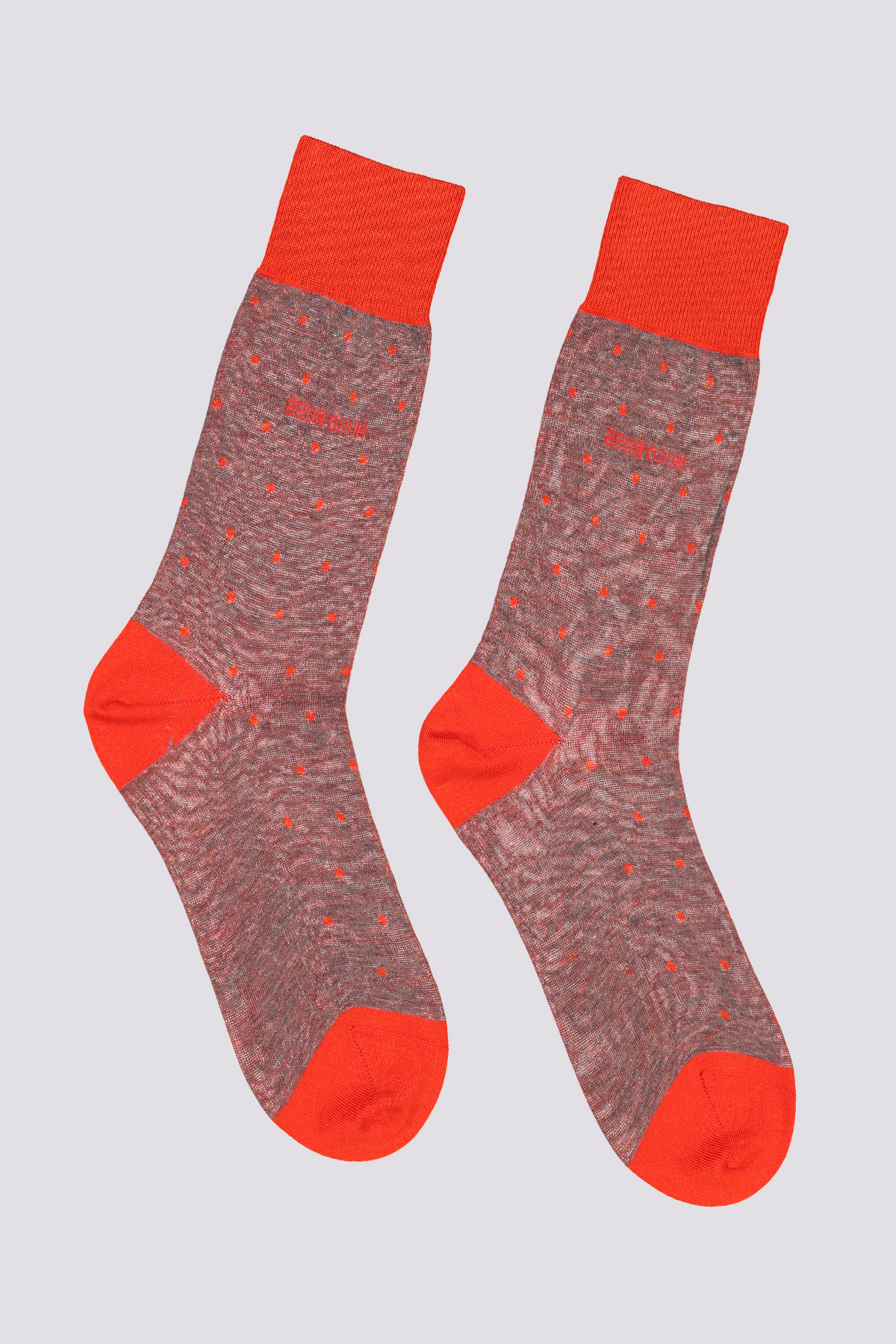 Calcetines ligeros de algodón mercerizado Mara BOSS con estampado de puntos