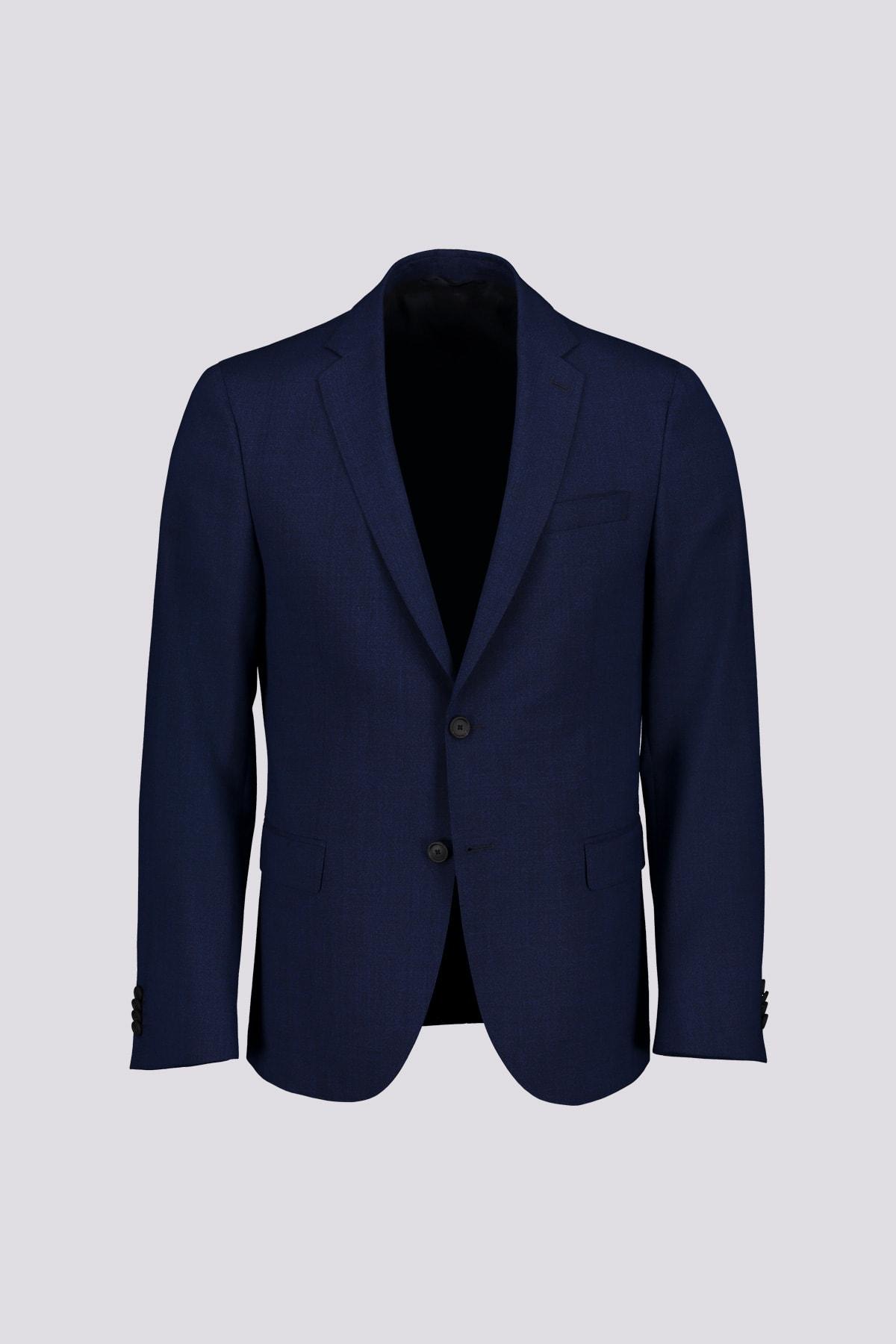 Traje dos piezas marca BOSS de tejido lana 100% SLIM FIT