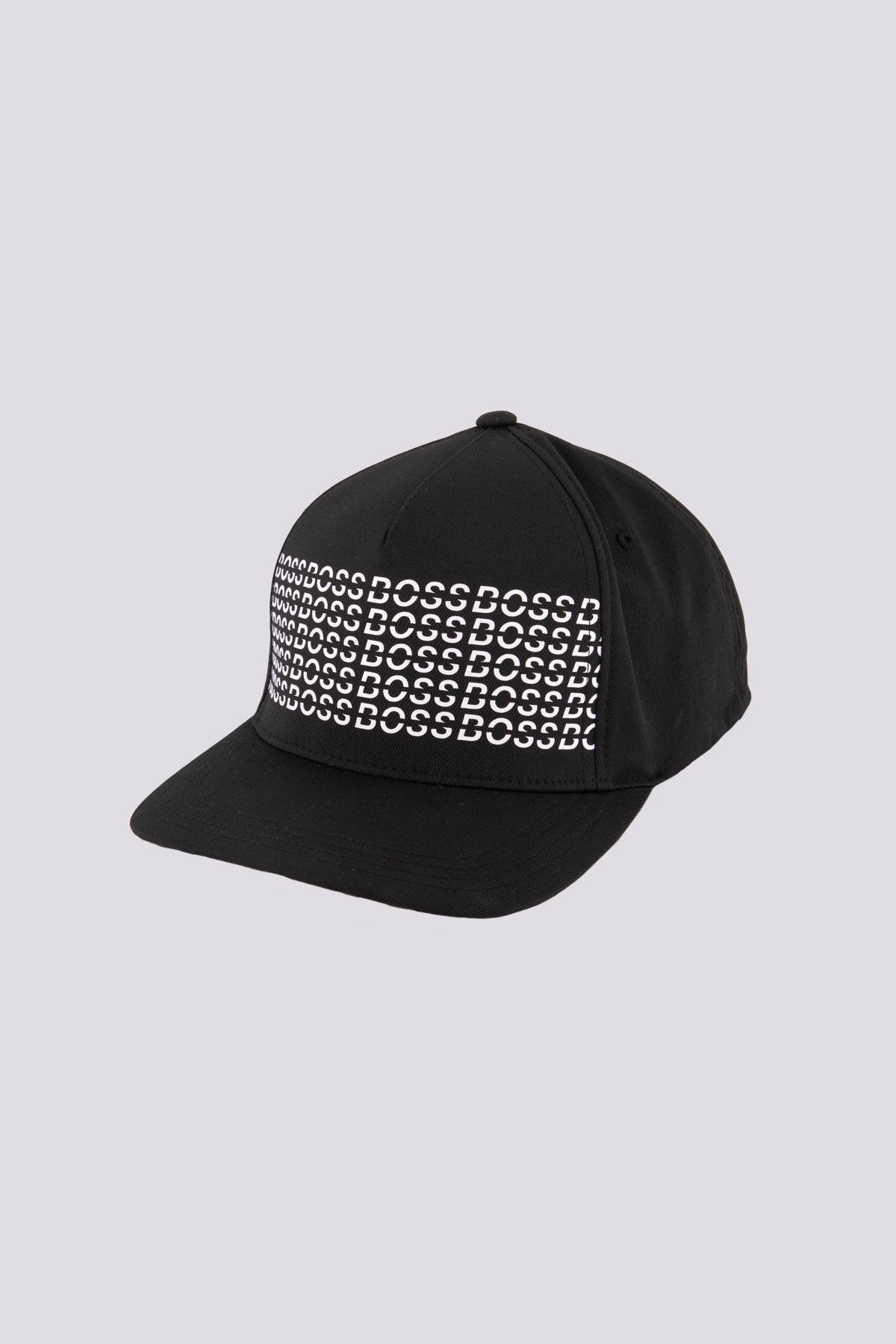 Gorra marca BOSS con estampado de goma color negro