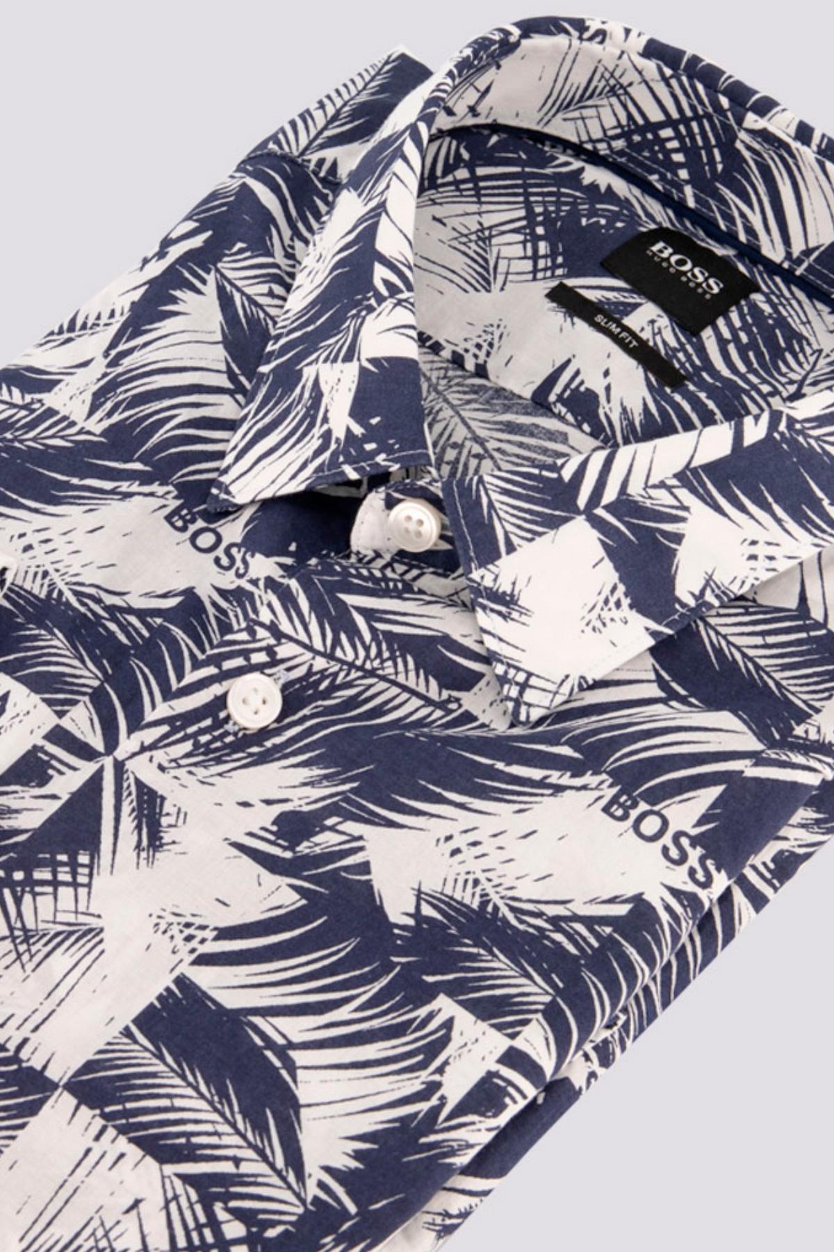 Camisa Sport Marca BOSS con estampado palmera