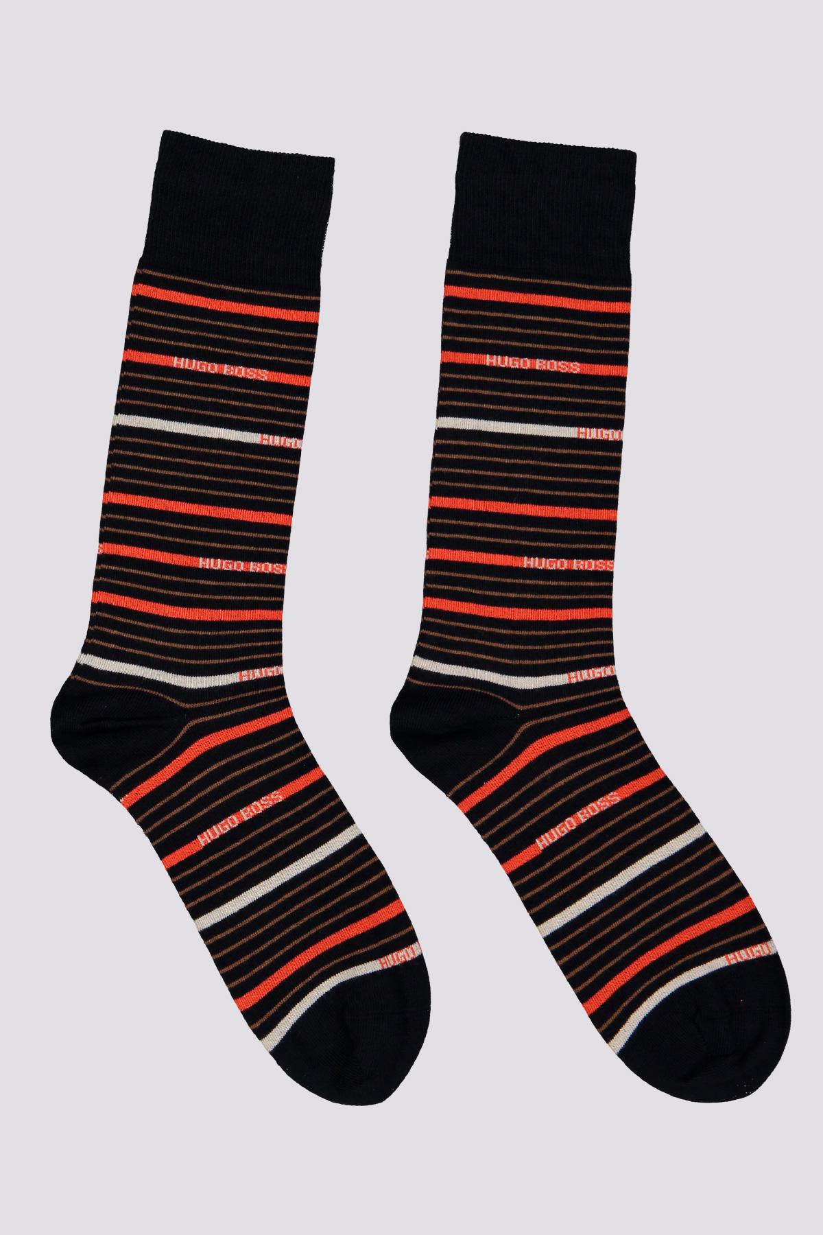 Paquetes de dos calcetines largos normal peinados combinados