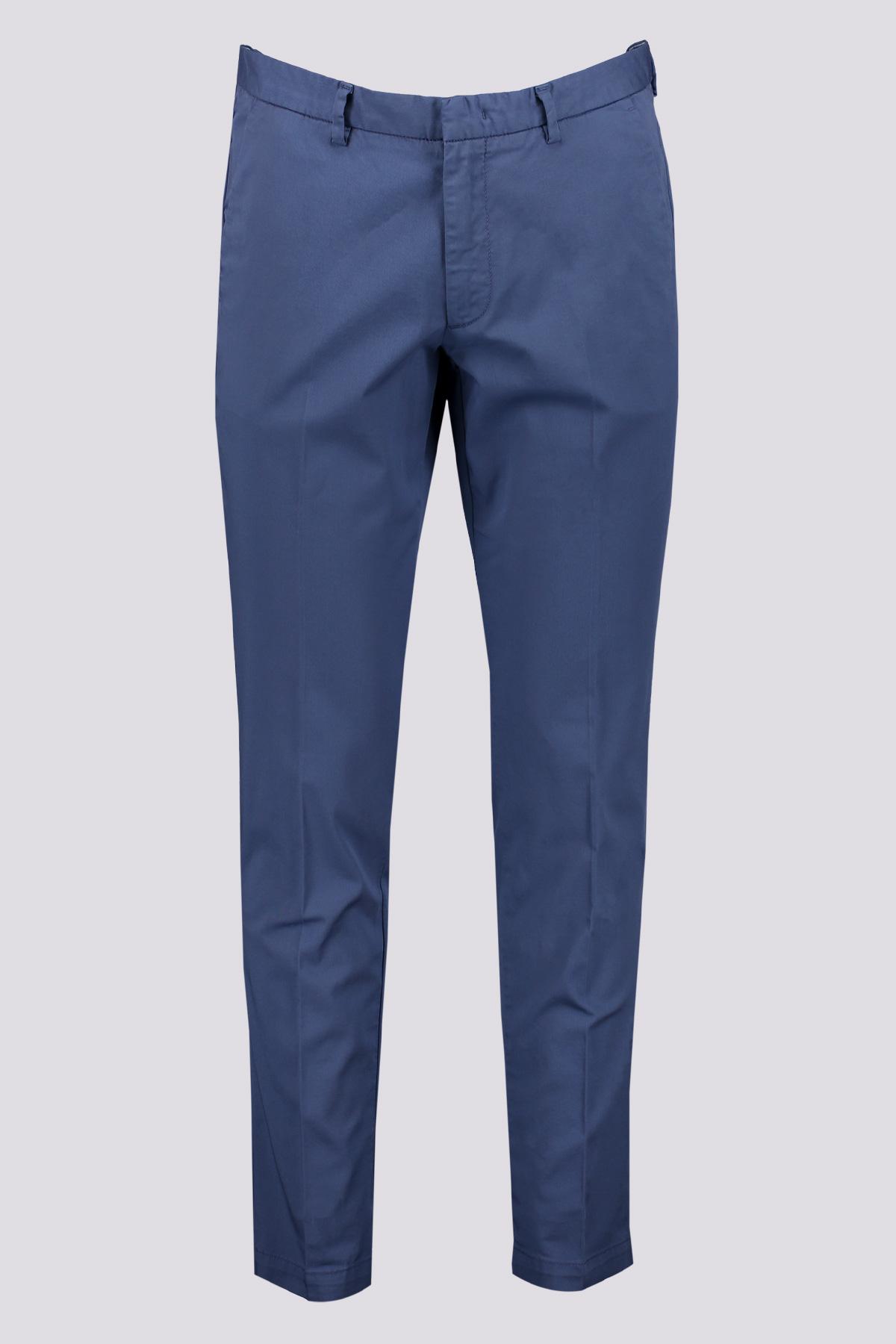 Pantalones chinos de algodón elástico Marca BOSS color azul medio
