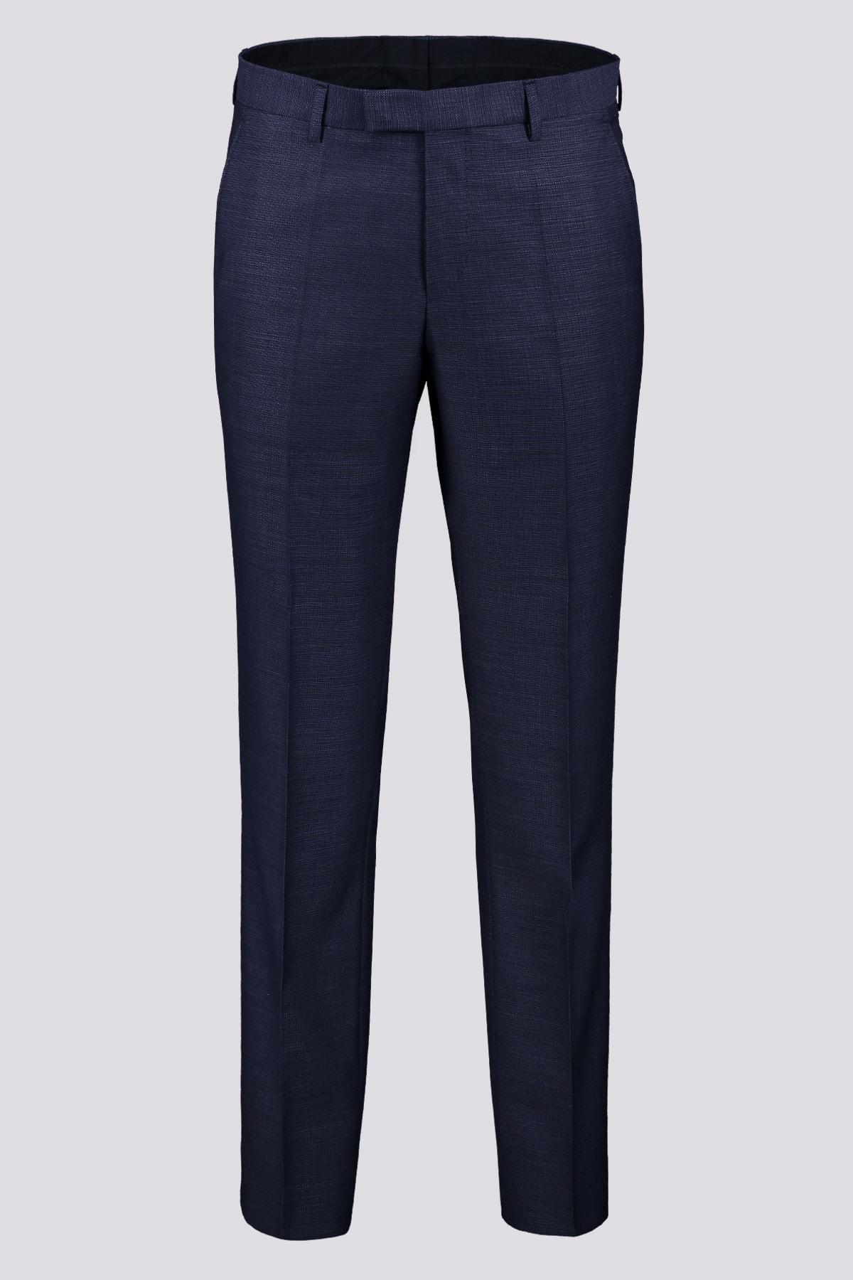 Pantalon formal marca BOSS en color azul marino 100% lana virgen