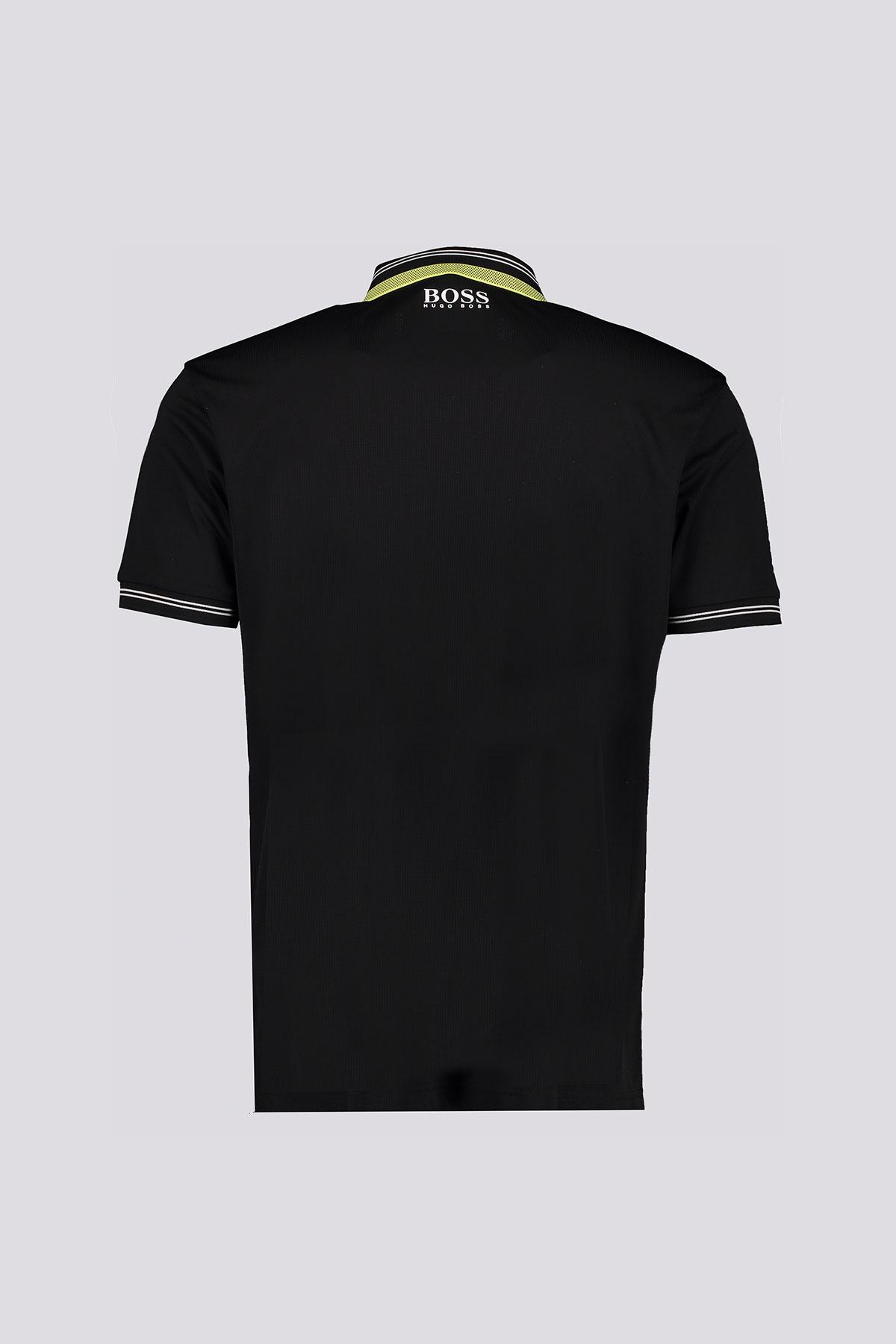 Playera Polo marca BOSS linea Green de tejido elástico con detalles en contraste