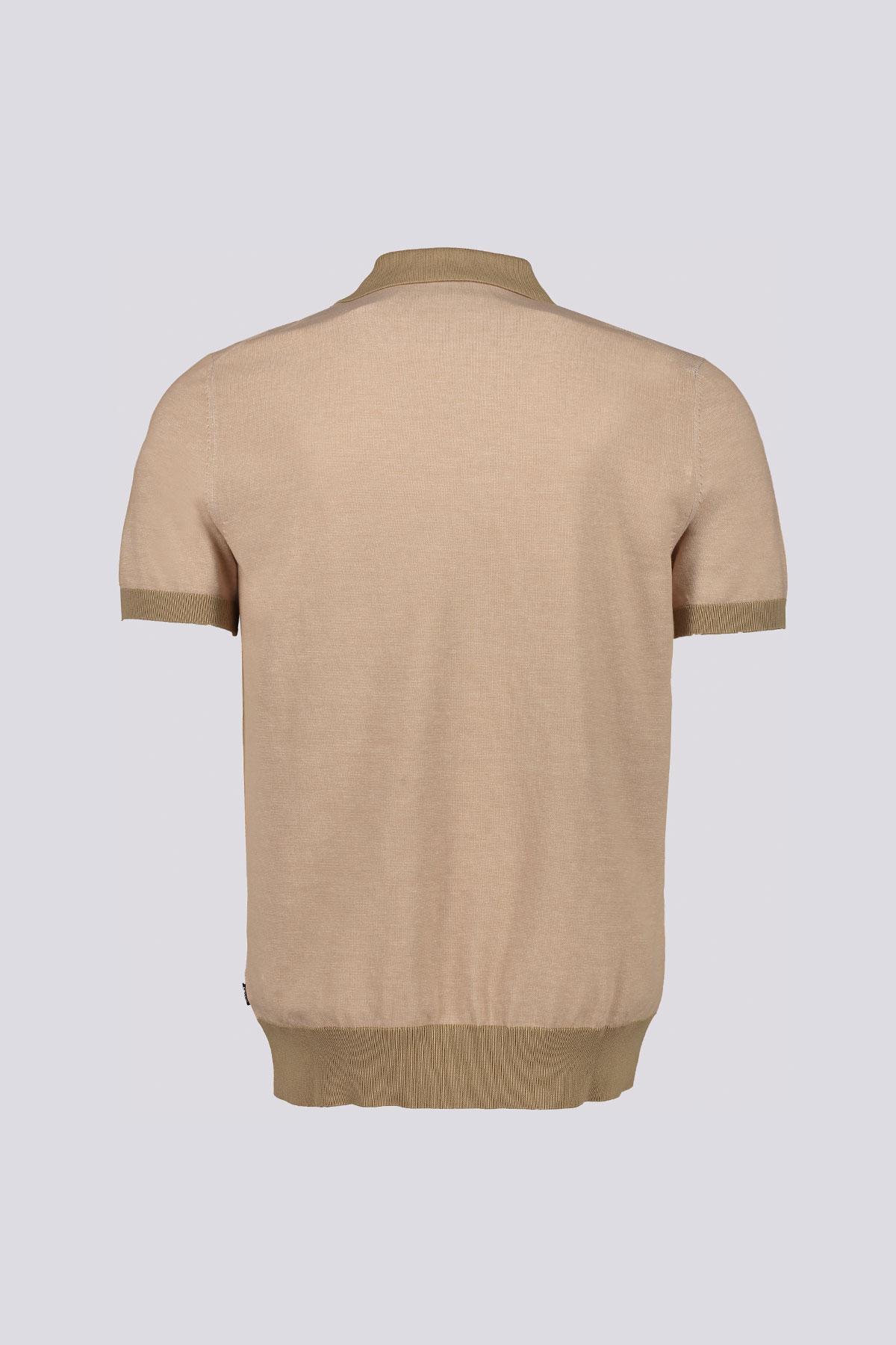 Playera polo Oberti marca BOSS confeccionado en algodón color beige