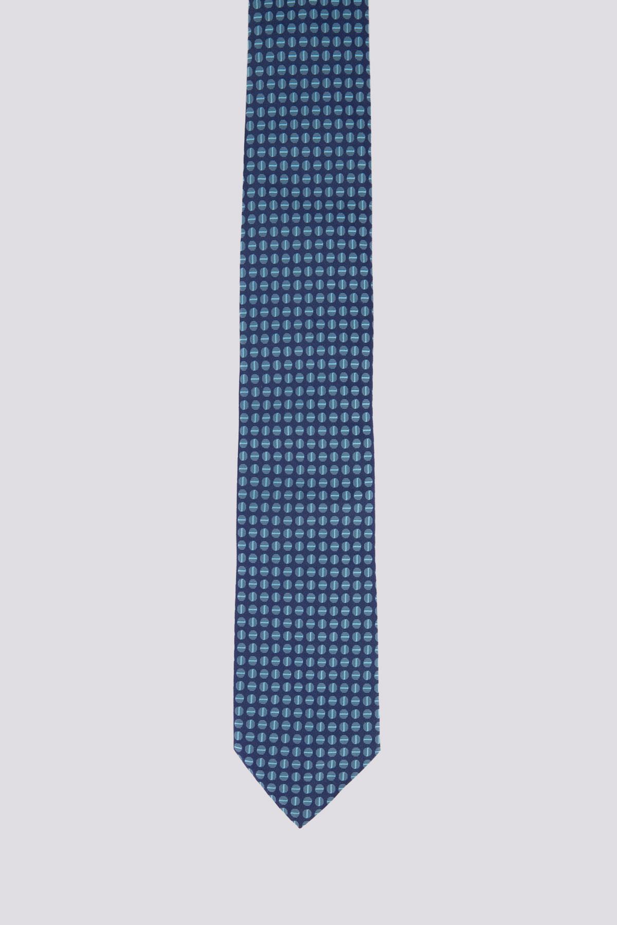 Corbata marca BOSS en Seda con Patrón Círculo