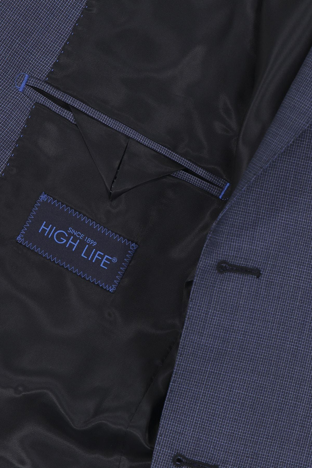 Traje High Life corte Slim Azul 100% lana