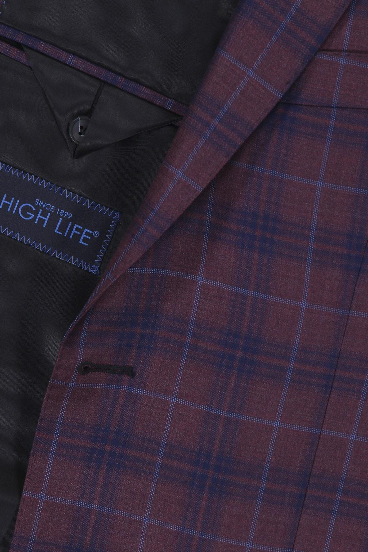 Saco Formal High Life Vino, Tejido 100% Lana Super 120´s, Corte Slim.