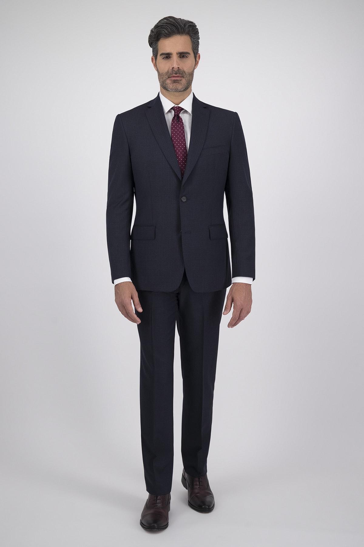 Traje dos piezas tejido Cloth Ermenegildo Zegna azul Marino Falso liso