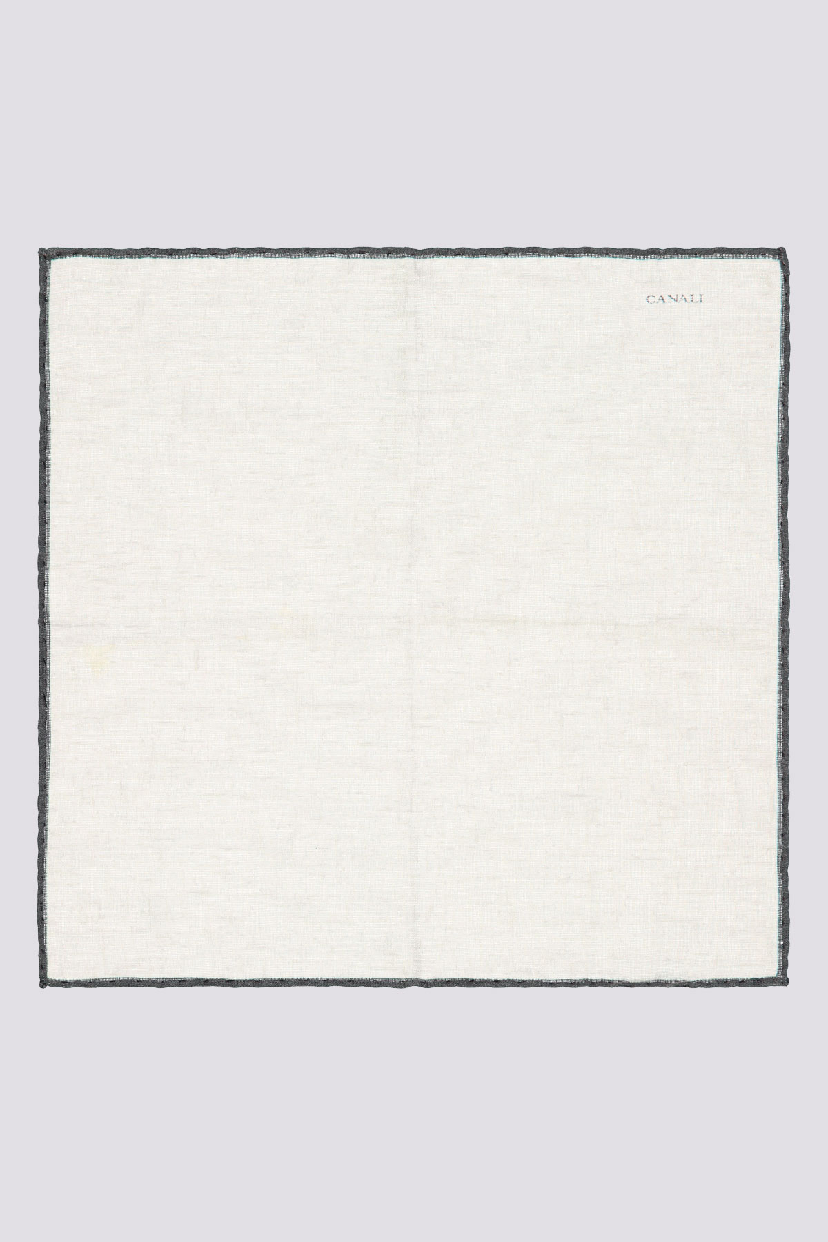 Pañuelo blanco marca CANALI con ribete  a contraste