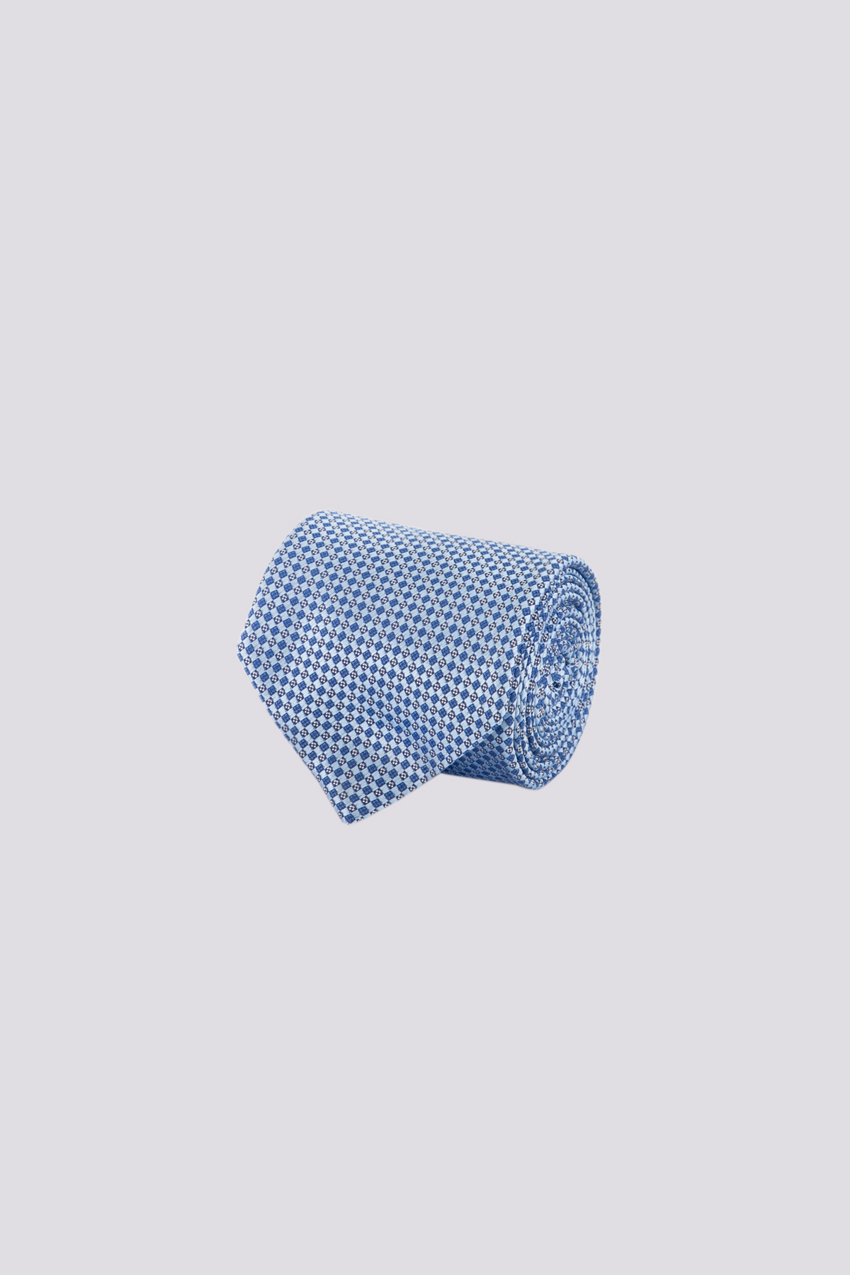 Corbata de seda marca CANALI con patrones geometricos