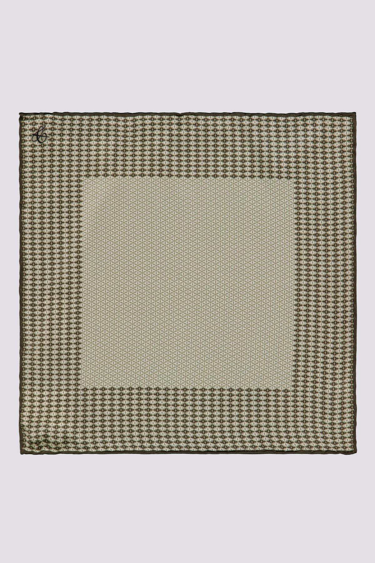 Pañuelo de Seda marca CANALI a dos tonos beige y café