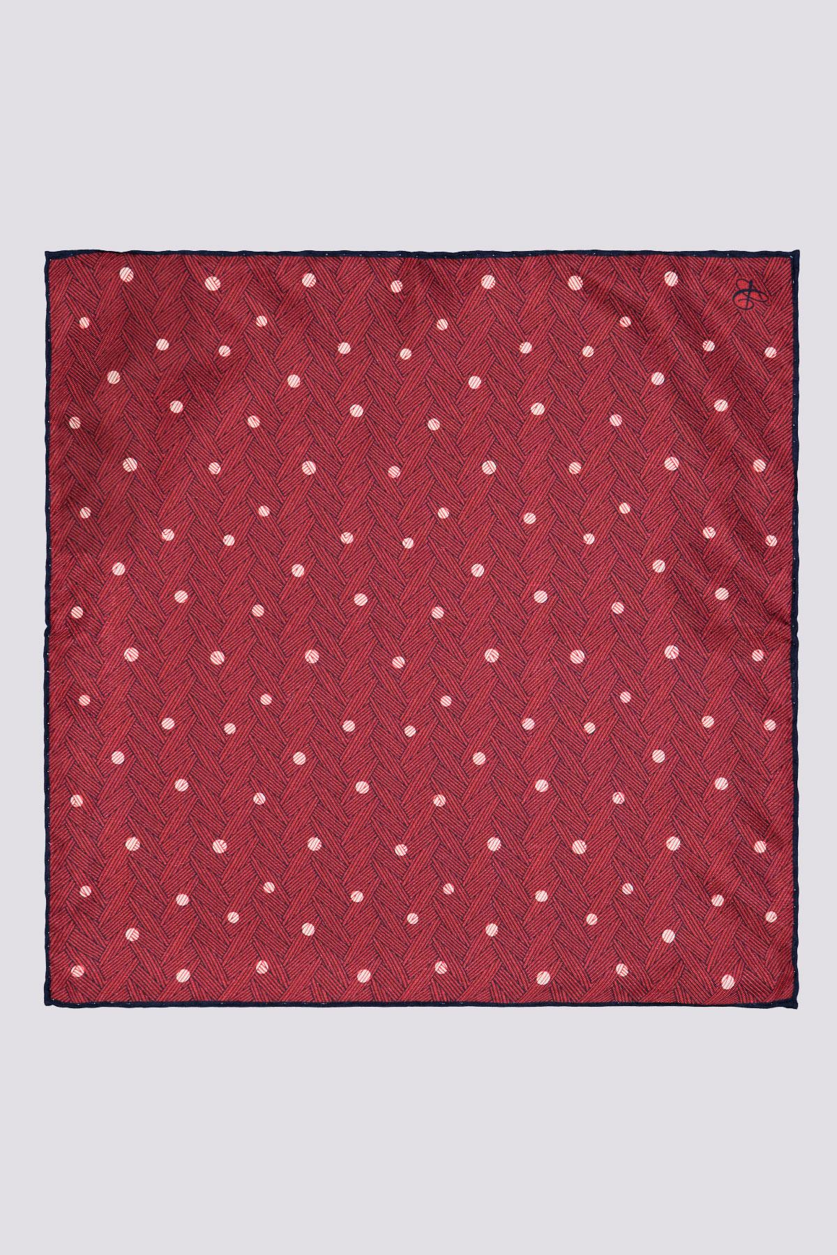Pañuelo moderno marca CANALI con estampado trenzado color naranja oxido