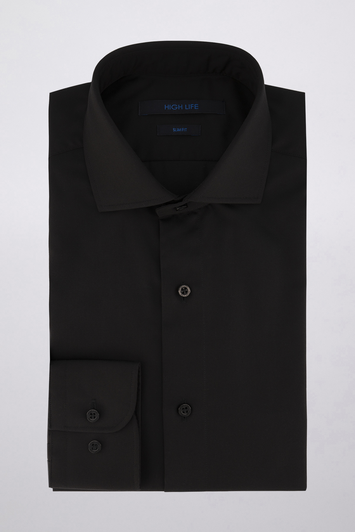 Camisa Vestir marca HIGH LIFE color Negro