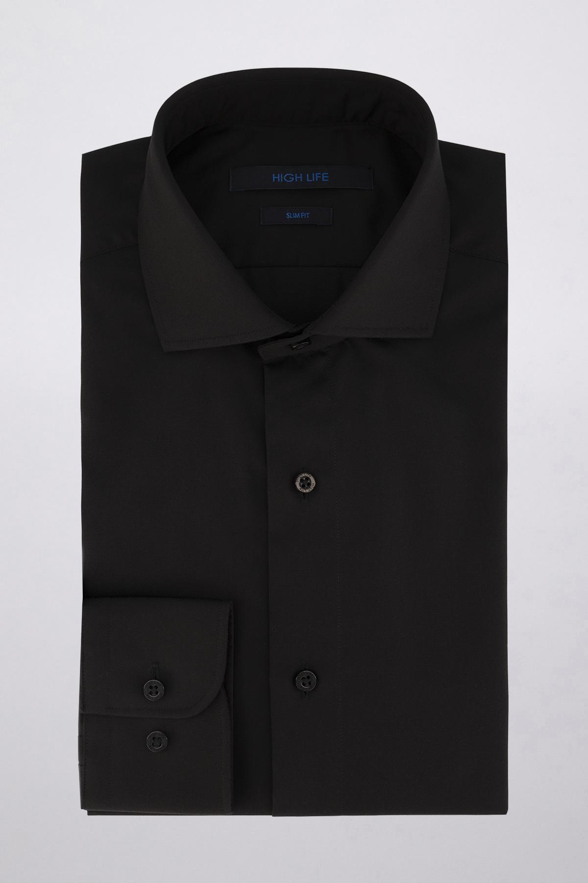 Camisa Vestir marca HIGH LIFE color Negro