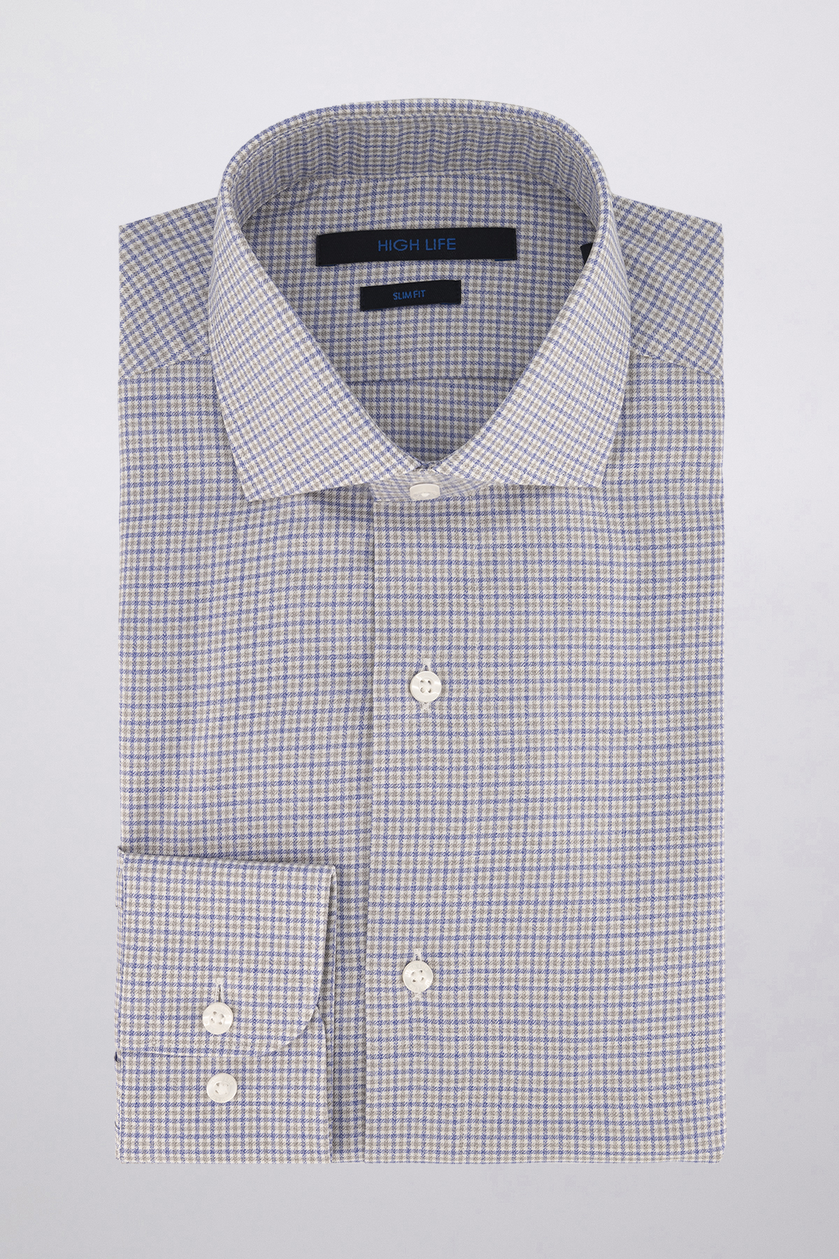 Camisa Vestir marca HIGH LIFE color Gris